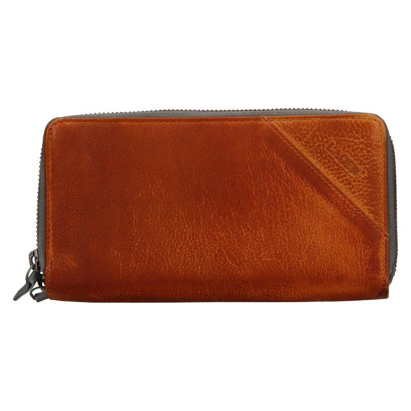 Lagen JK-200 / D - hnedá dámska kožená peňaženka
