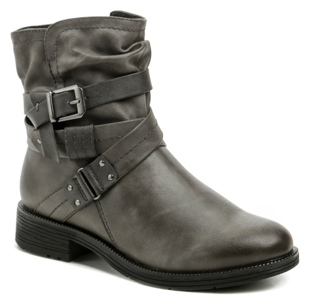 Jana 8-25465-27 grafit dámské boty šíře H EUR 38